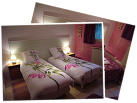 Chambre rose (version lit double)